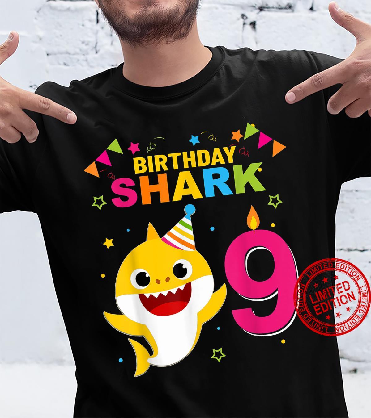 Birthday Boy,Girl nine 9 Year Old Baby Shark 9th Shirt