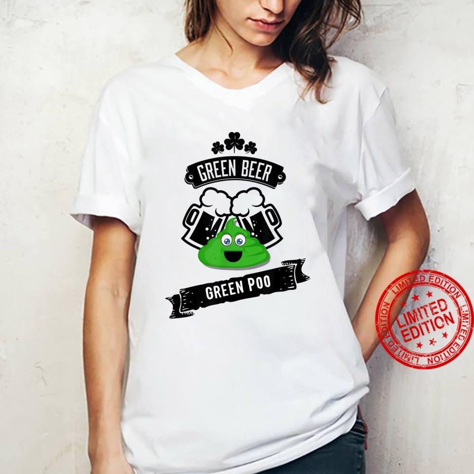 Green Beer Poop Gag Shirt ladies tee