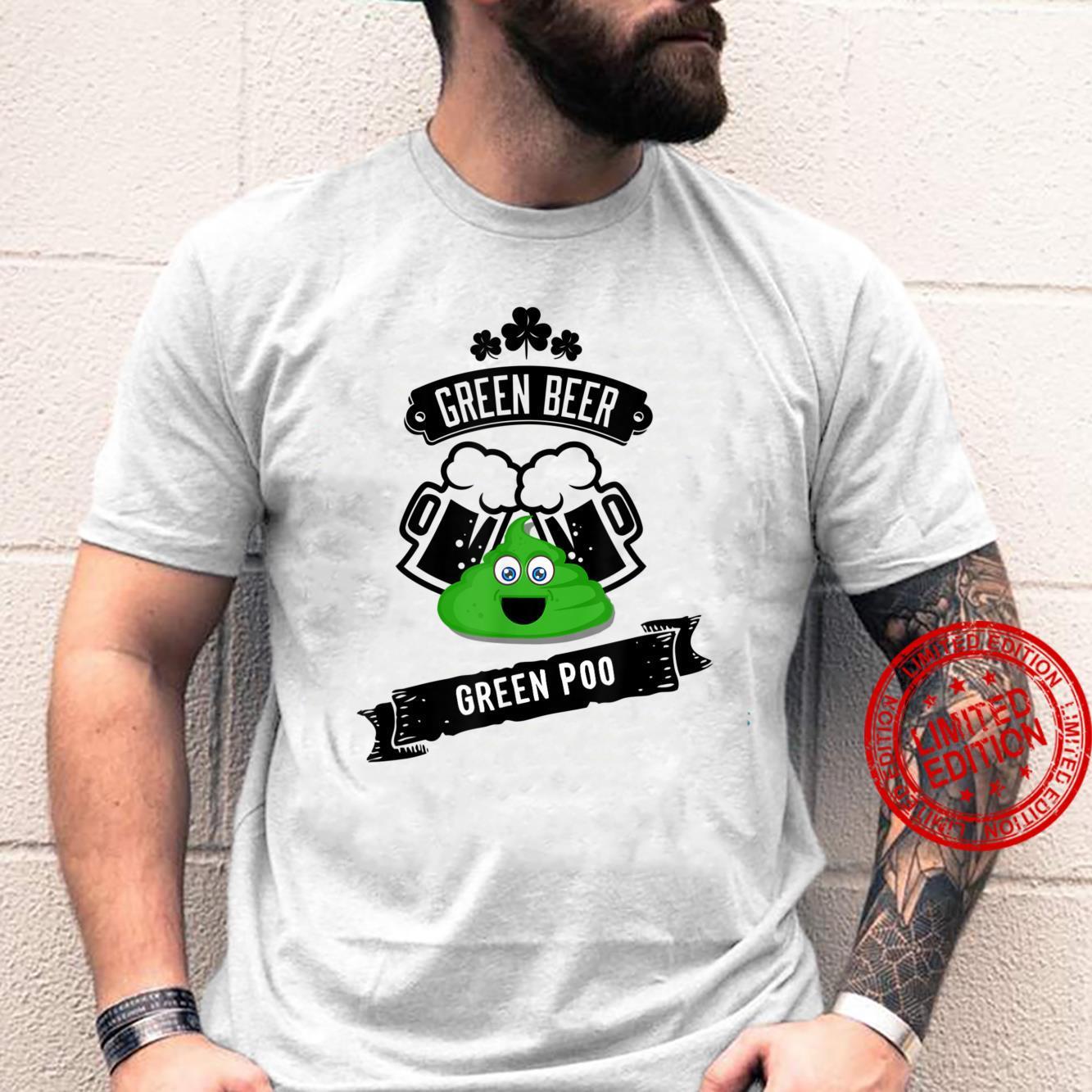 Green Beer Poop Gag Shirt