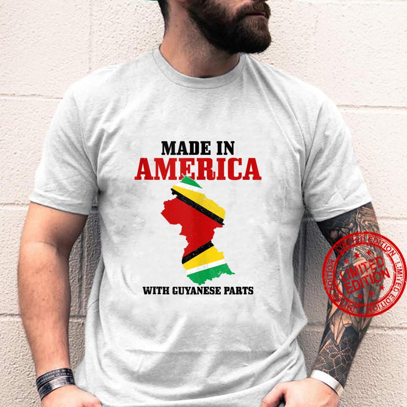 Guyanese Pride American Guyanese Parts Guyana Flag Shirt