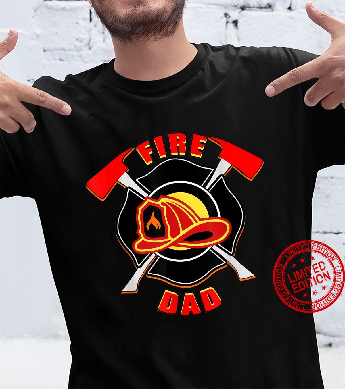Herren Feuer Papa Feuerwehrmann Feuerwehrmann Vater Held Shirt