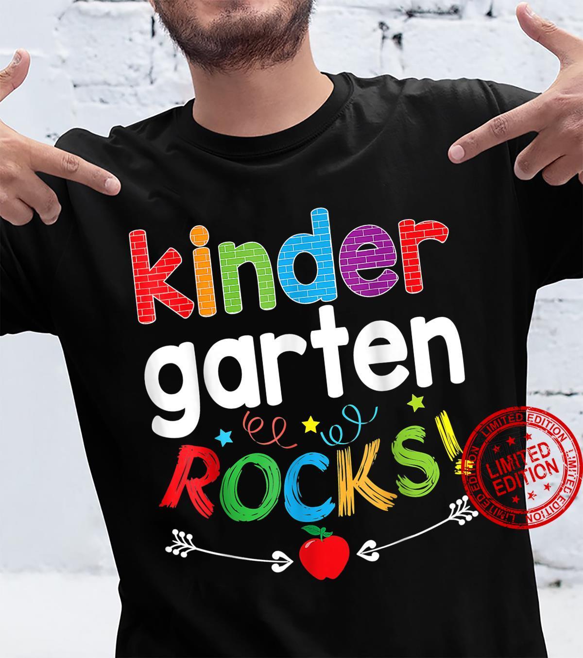 Kindergarten Rocks Back To School Kid Teacher Student Team Shirt