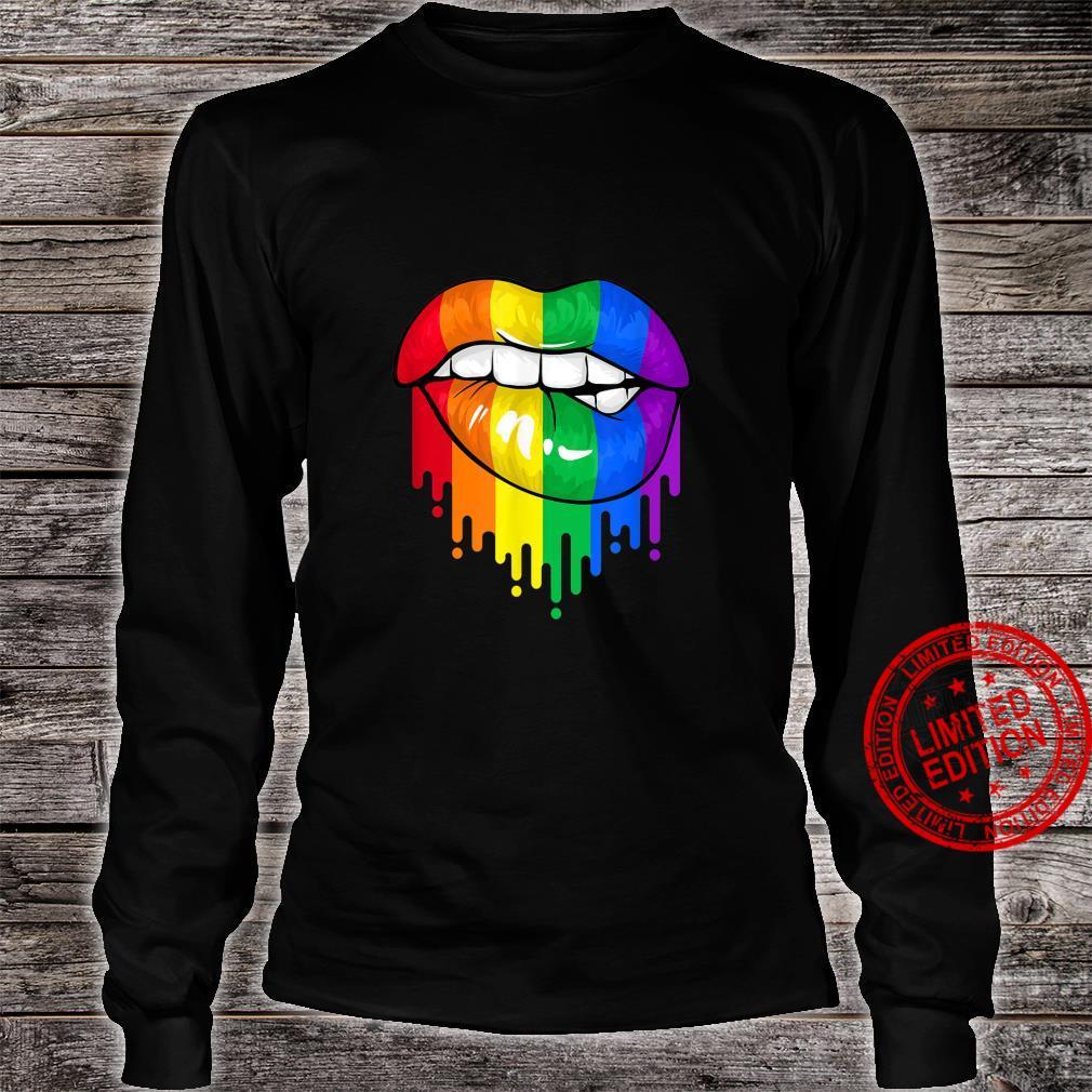 LGBT Rainbow Lips Pride Gay Homosexual Lesbian Shirt long sleeved