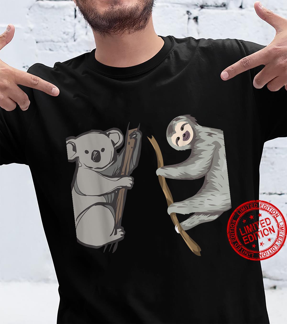 Lazy Sloth and Koala Pajama Shirt