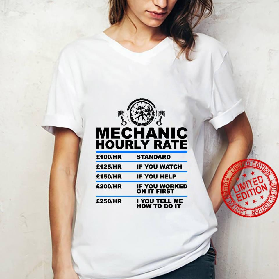 Mechanic Hourly Rate, for Car Mechanic Car Shirt ladies tee