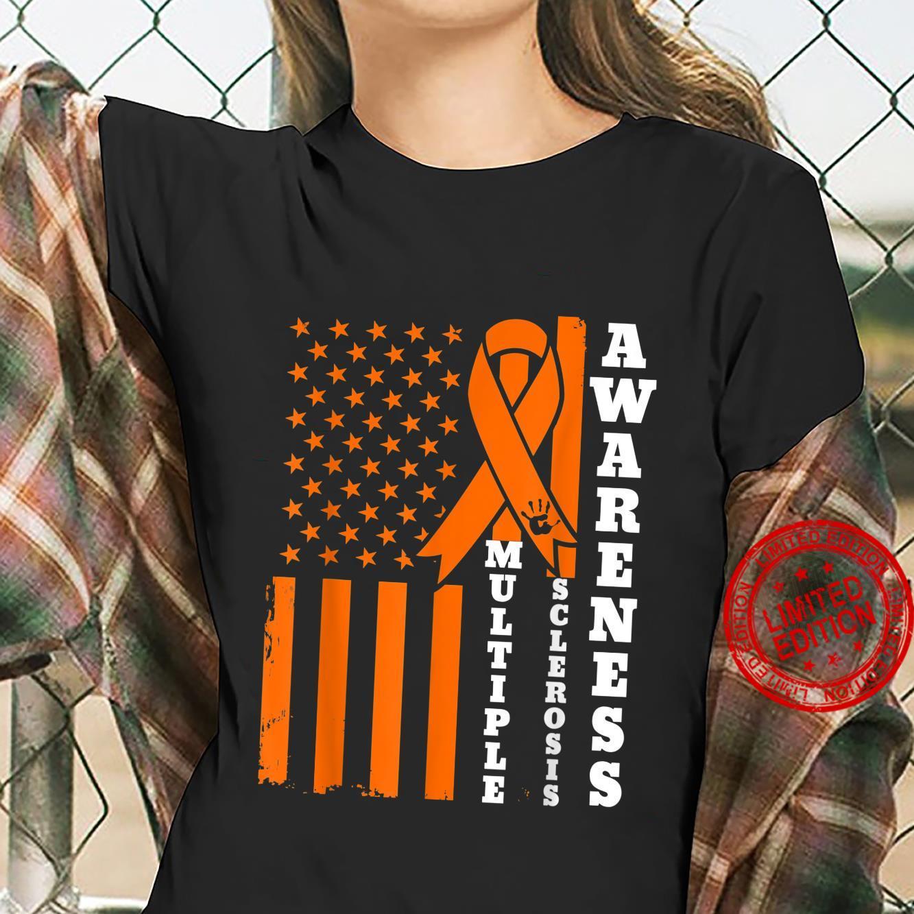 Multiple Sclerosis Awareness MS Survivor Warrior Shirt ladies tee