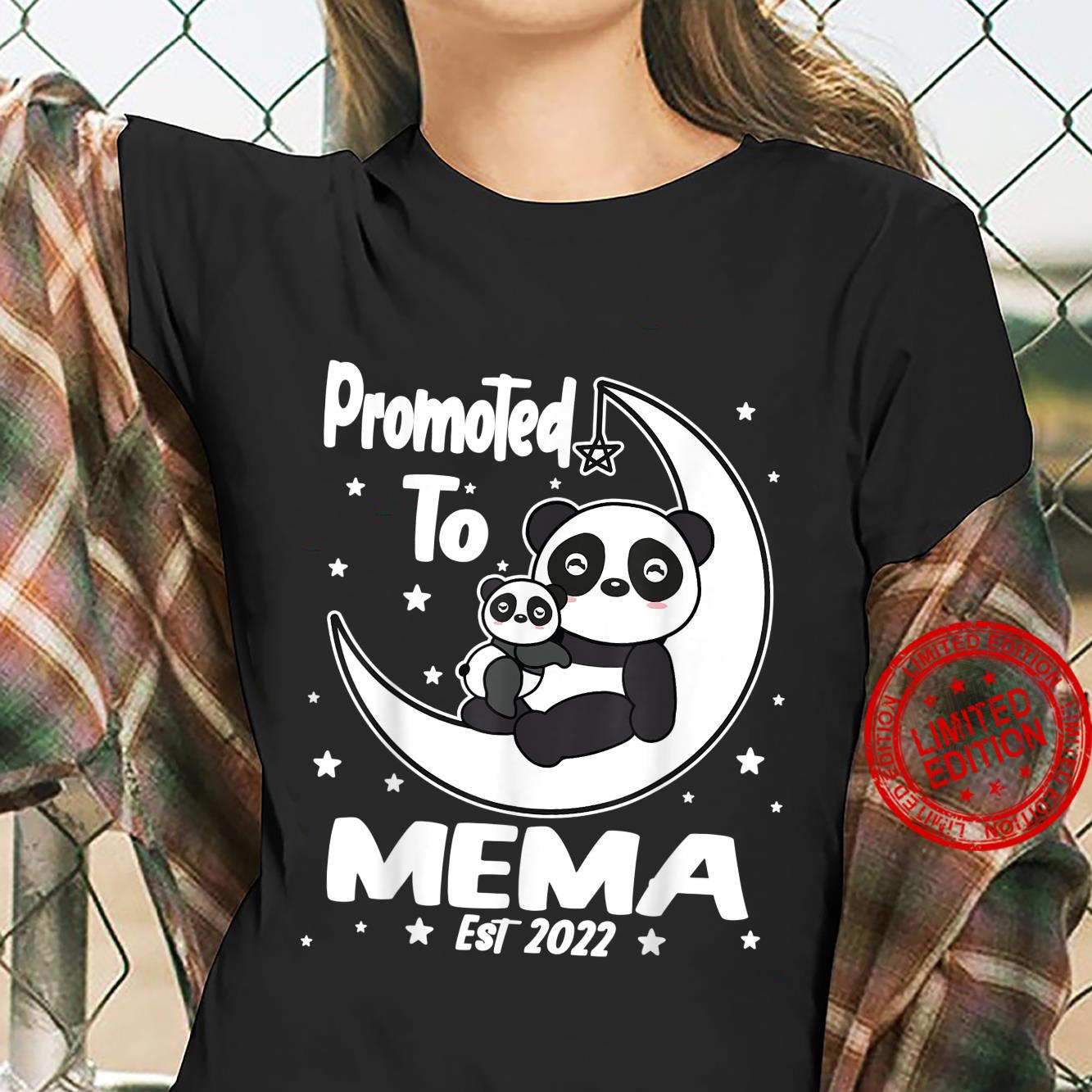 Panda Mema First Time Mema EST 2022 Cute Shirt ladies tee