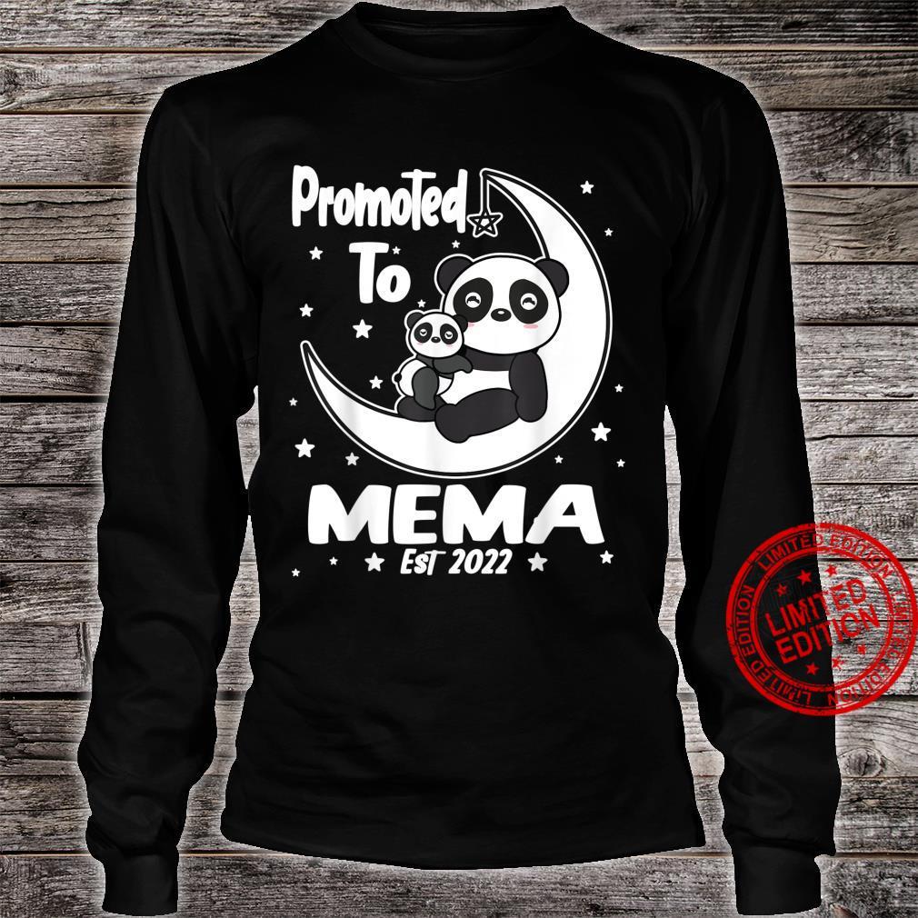 Panda Mema First Time Mema EST 2022 Cute Shirt long sleeved