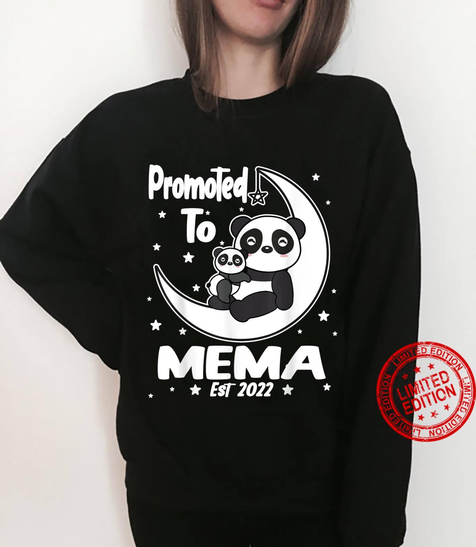 Panda Mema First Time Mema EST 2022 Cute Shirt sweater