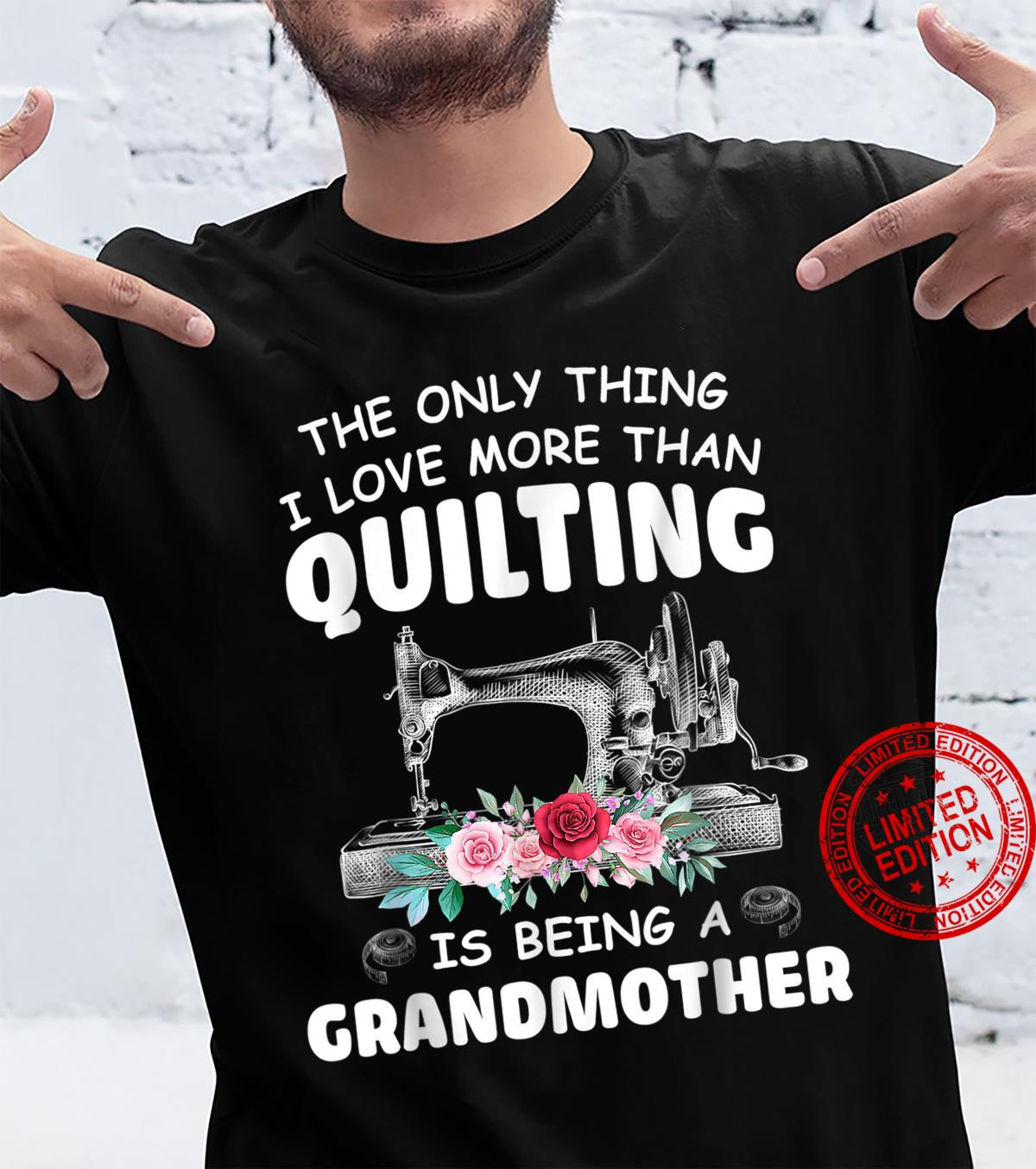 Quilting Grandmother Quilt Grandma For Quilter Sewer Shirt