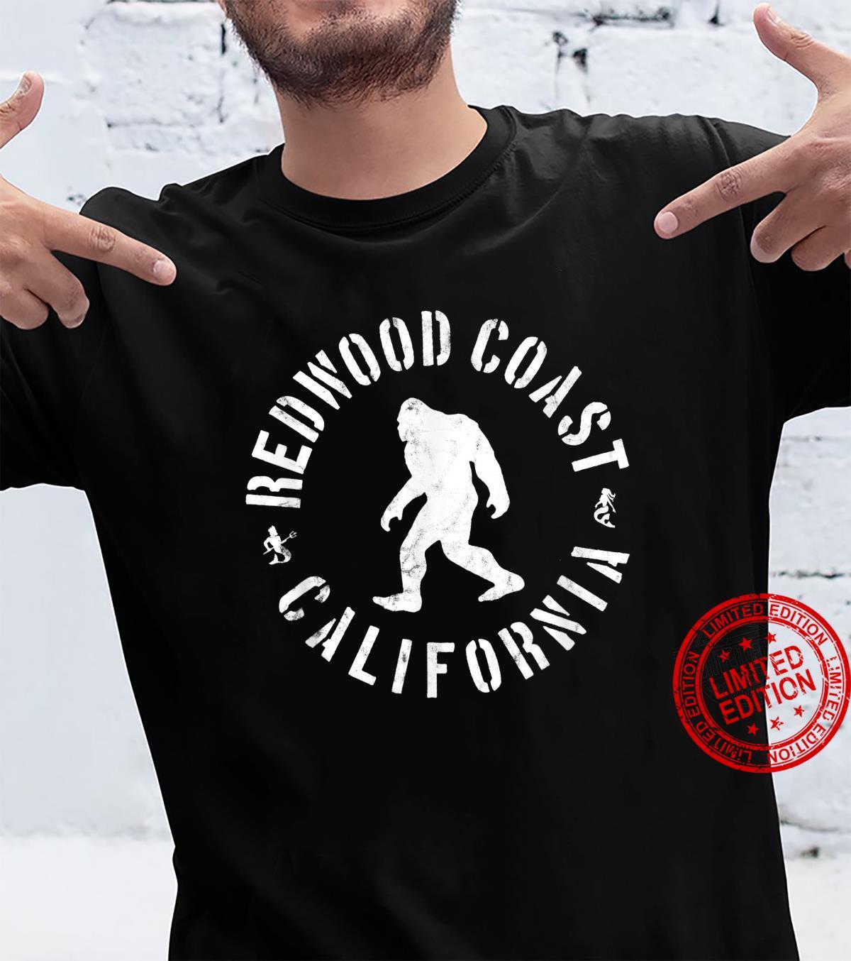 Redwood Coast California Sasquatch Bigfoot Camping Outdoors Shirt
