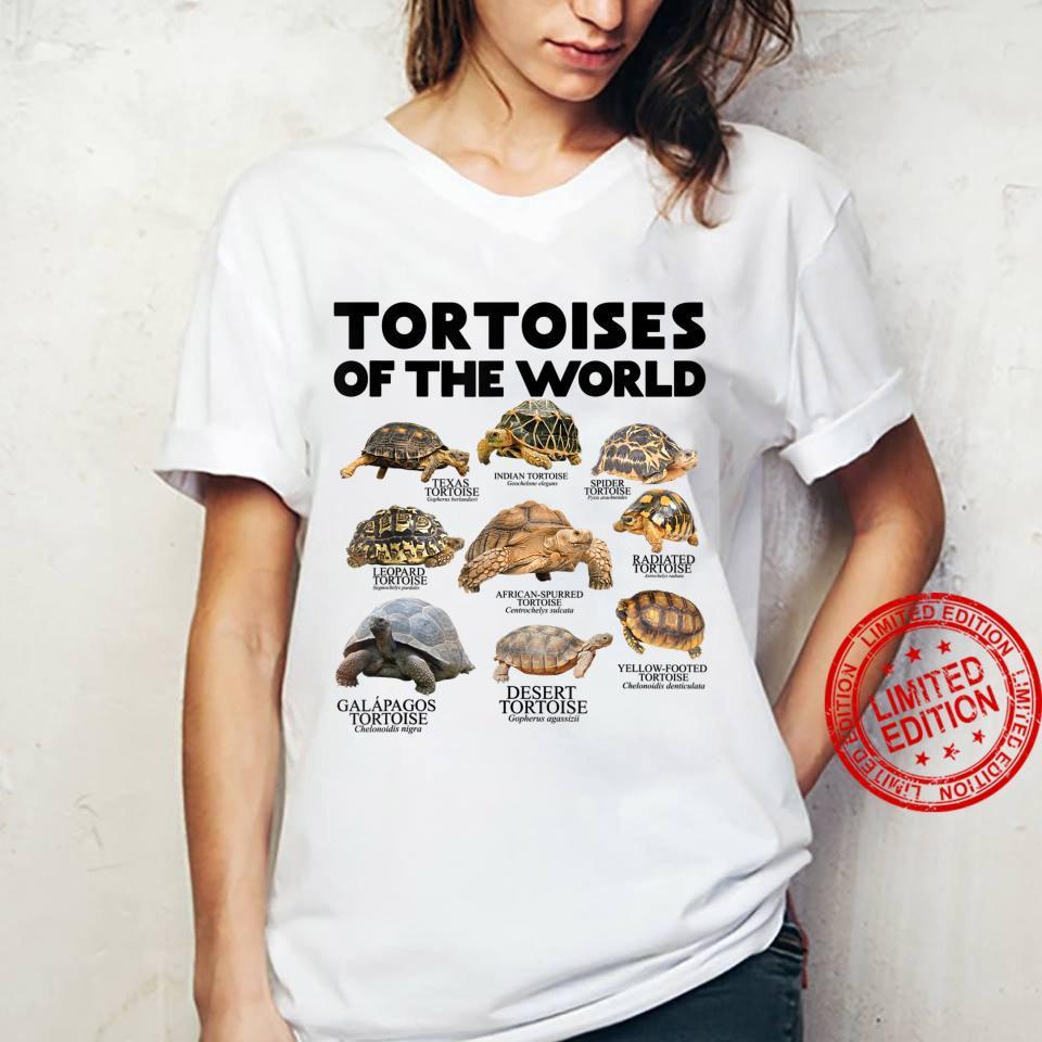 Schildkröten Der Welt Schildkröten Save The Landschildkröten Shirt ladies tee