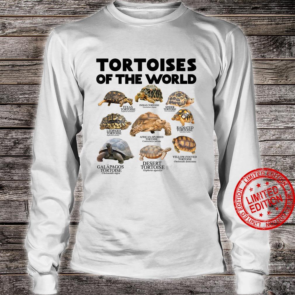 Schildkröten Der Welt Schildkröten Save The Landschildkröten Shirt long sleeved