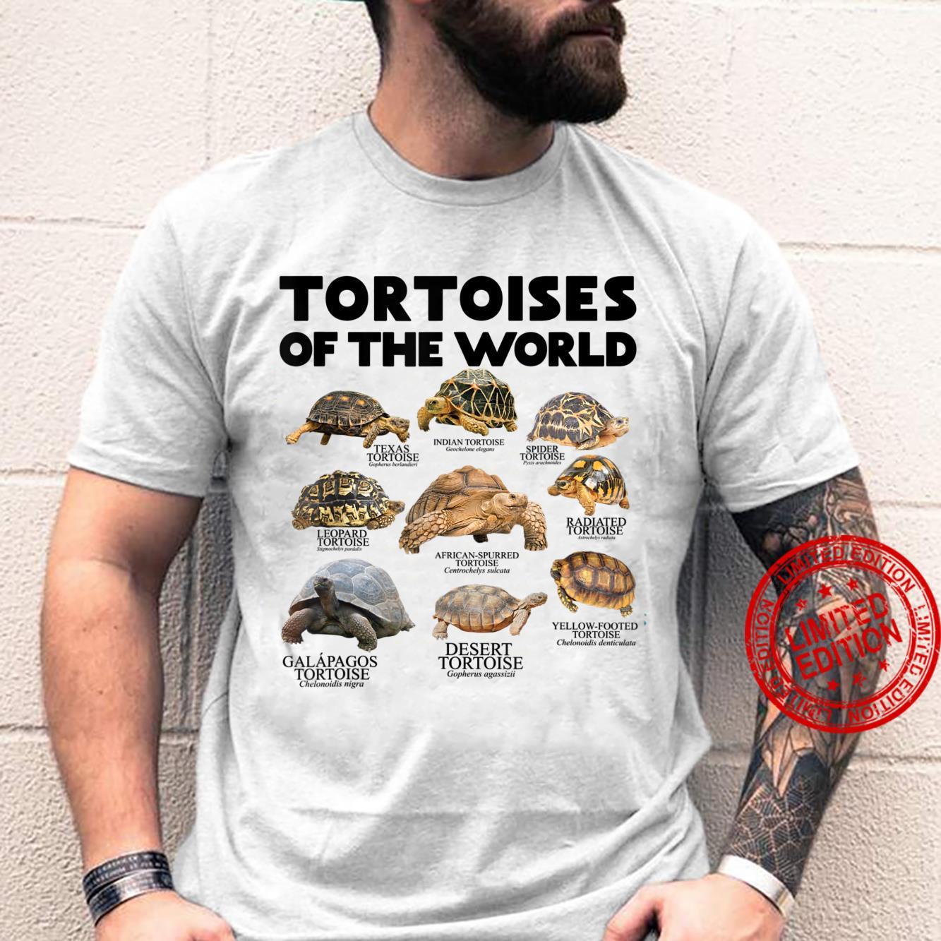 Schildkröten Der Welt Schildkröten Save The Landschildkröten Shirt