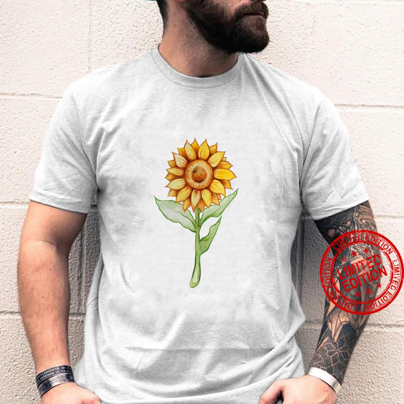 Sunflower Watercolor Art Summer Flower Sunflowers Shirt