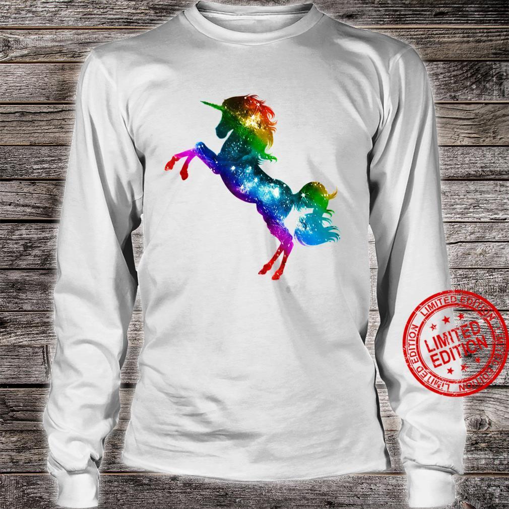 Unicorn, Vintage, Rainbow, Gay Pride, Flag, LGBTQ, Galaxy Shirt long sleeved