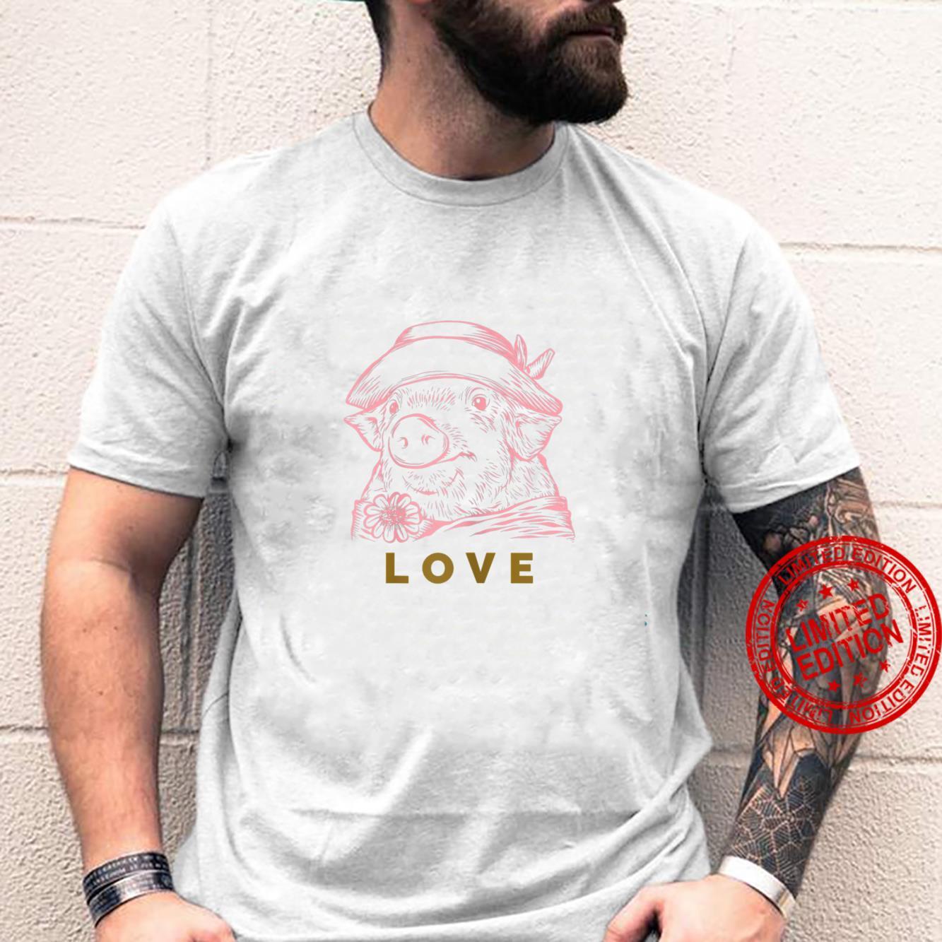 Womens Cute Love Pigs Shirt