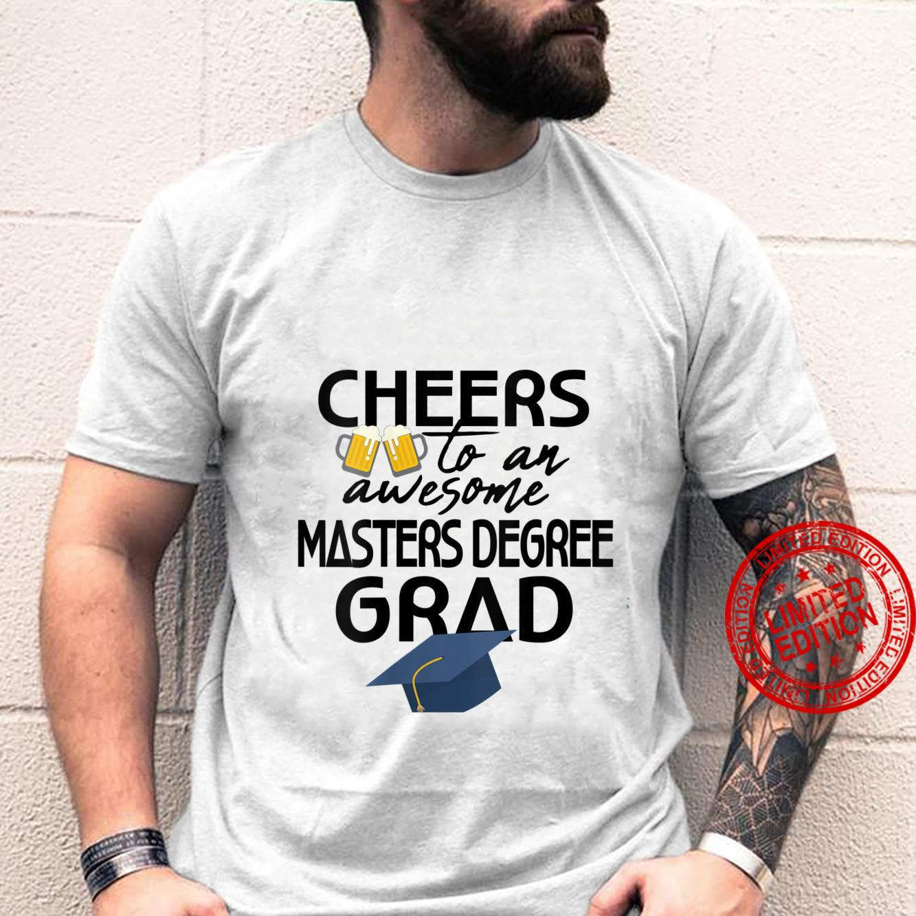 Womens Masters Degree Beer Graduation MSW Business Public Health Shirt