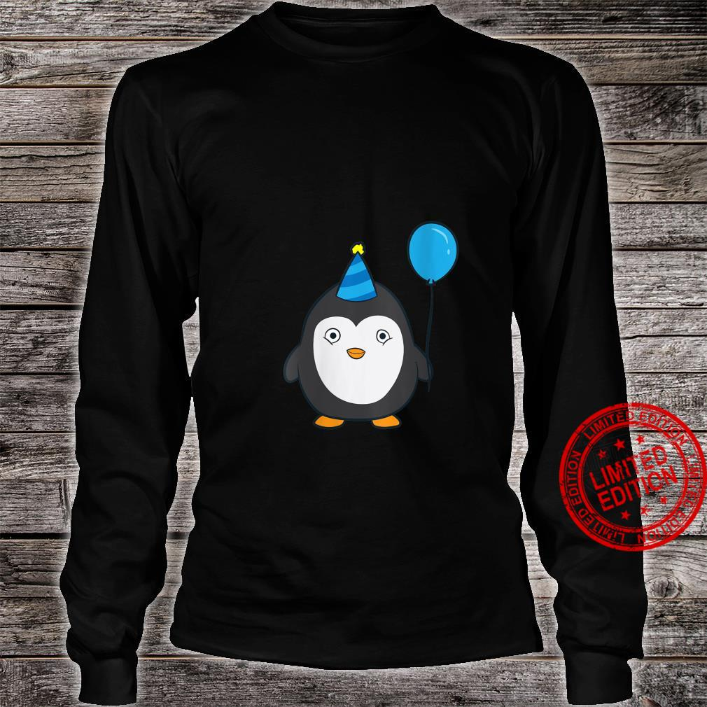 Womens Penguin Birthday Balloons Birthday Party Penguins Shirt long sleeved