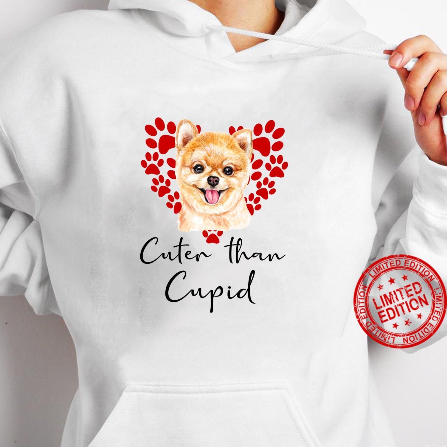 ZWERGSPITZ Cuter Than Cupid Hunde Valentinstag Shirt hoodie