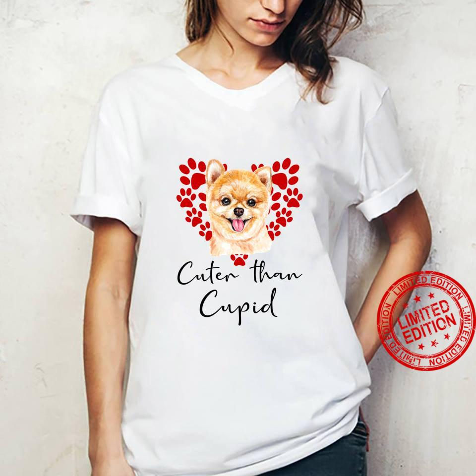 ZWERGSPITZ Cuter Than Cupid Hunde Valentinstag Shirt ladies tee