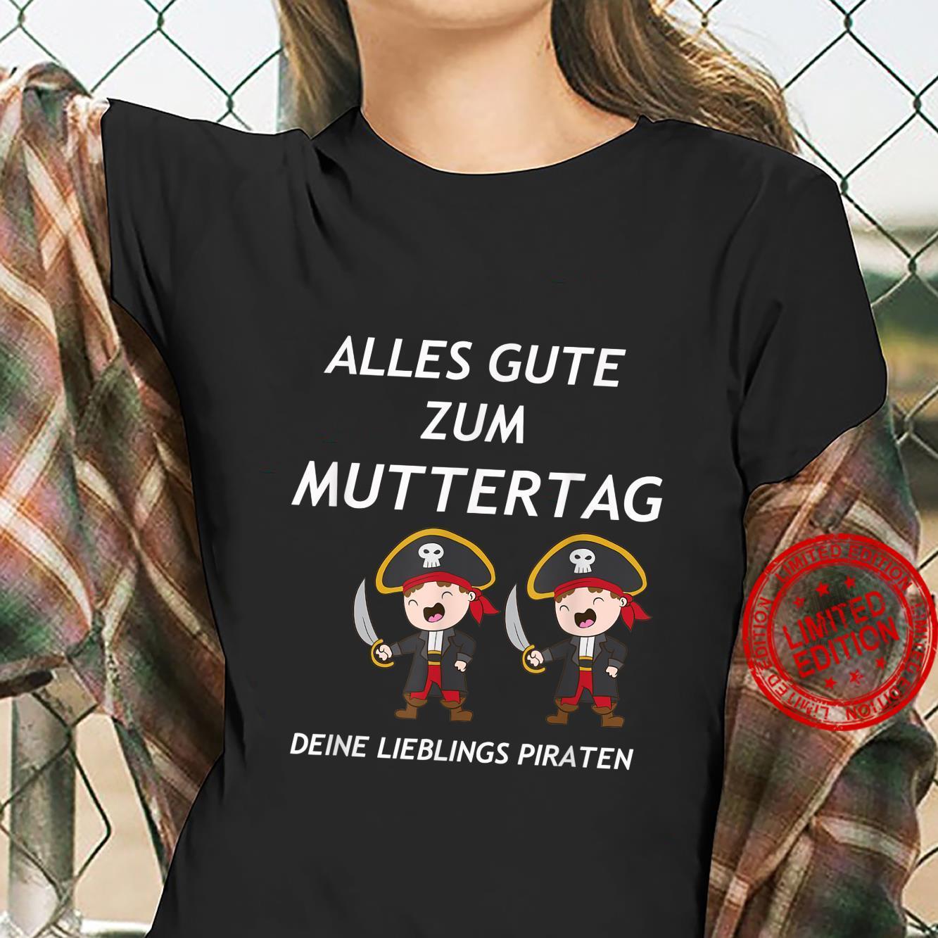 Zwillinge Geschwister ALLES GUTE ZUM MUTTERTAG PIRATEN Shirt ladies tee