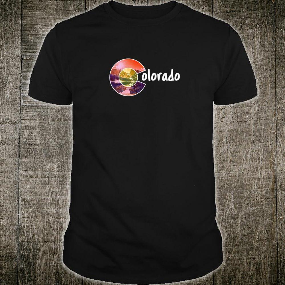 Colorado Flag Mountains Forest and C Design Shirt
