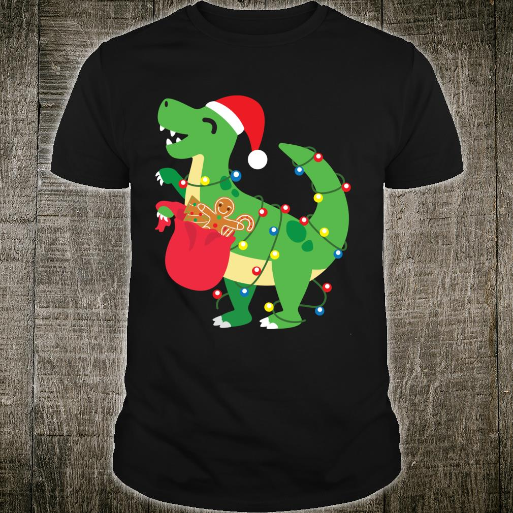 Cookie TRex Santa Cute Dinosaur Boy Christmas Shirt