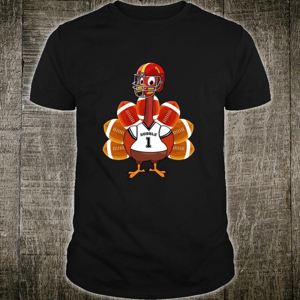 Cool Thanksgiving Football Gobble Player Turkey Shirt