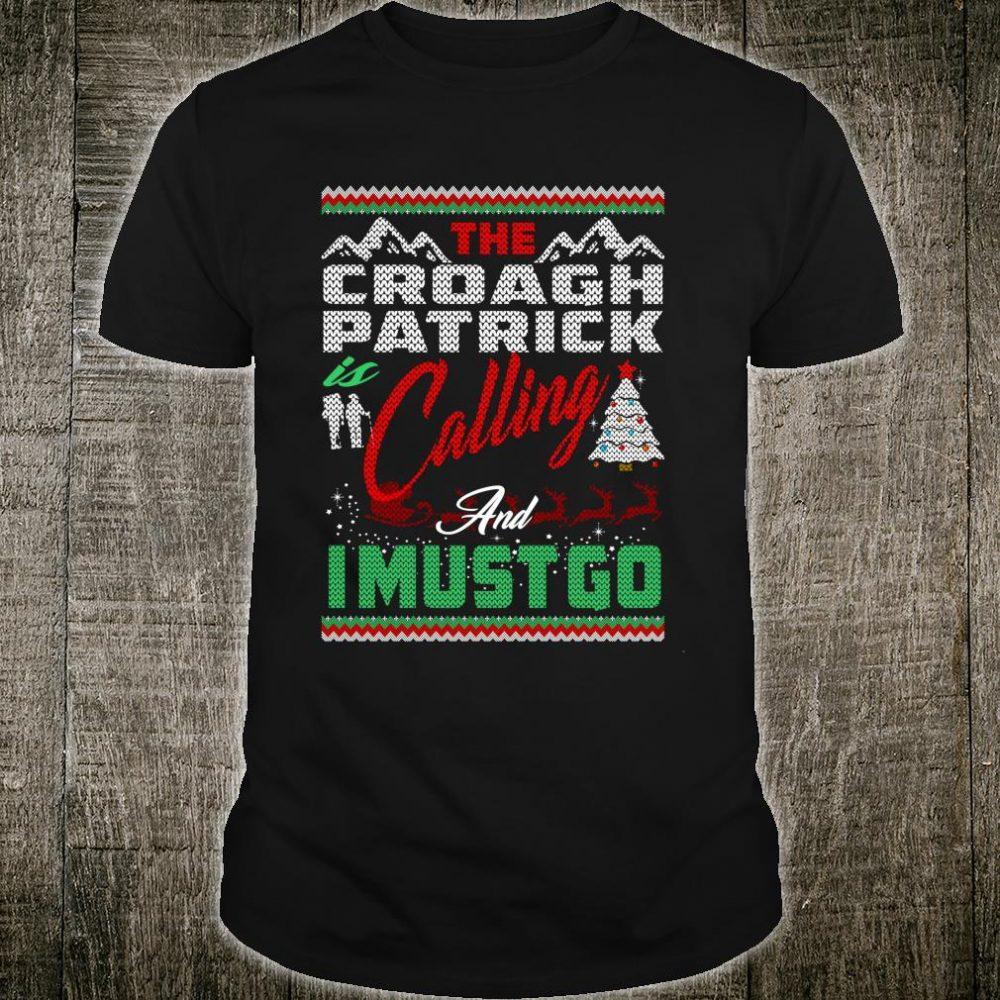 Croagh Patrick Calling And I Must Go Christmas Shirt