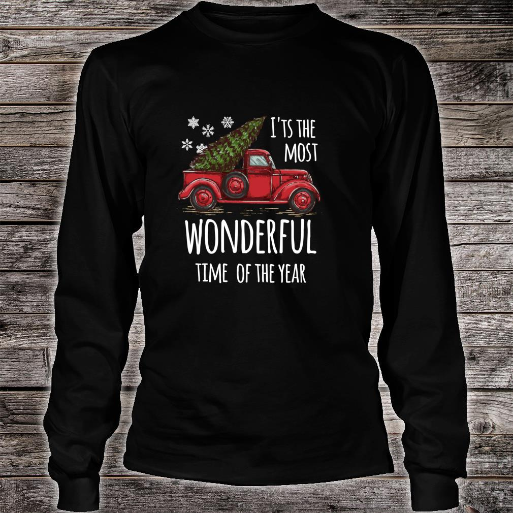 Cute Christmas Truck Design for people who love Christmas Shirt long sleeved