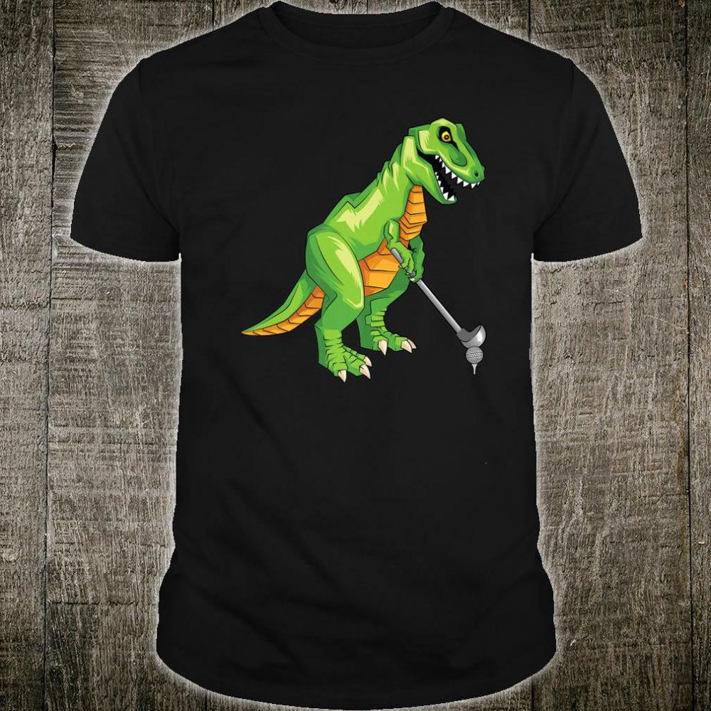 Cute TRex Playing Golf Dino Ball Game Sports Shirt