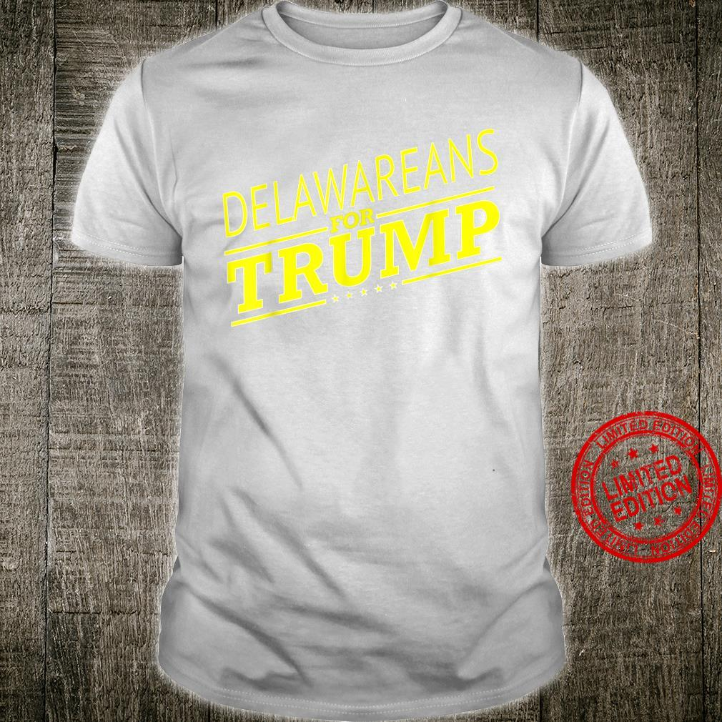 Delaware For Trump 2020 Second President Election Shirt