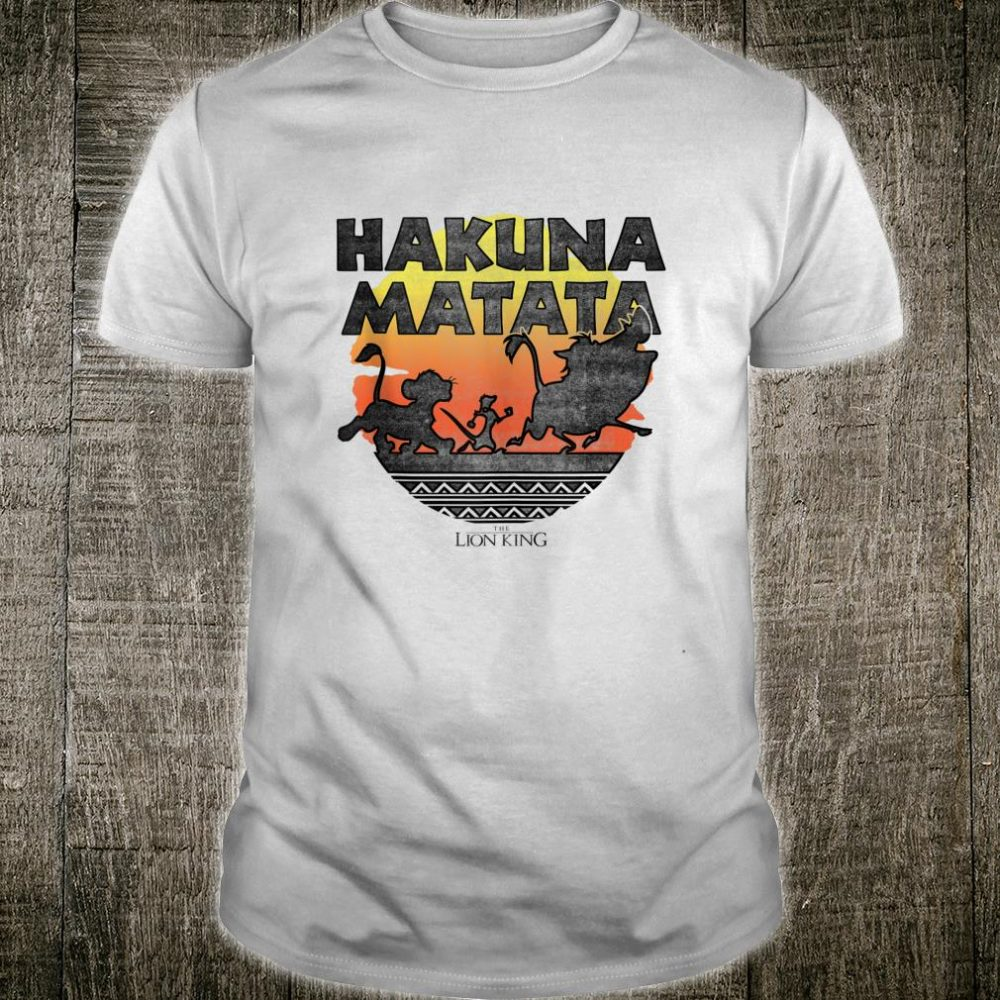 Disney The Lion King Hakuna Matata Sunset Silhouette Poster Shirt
