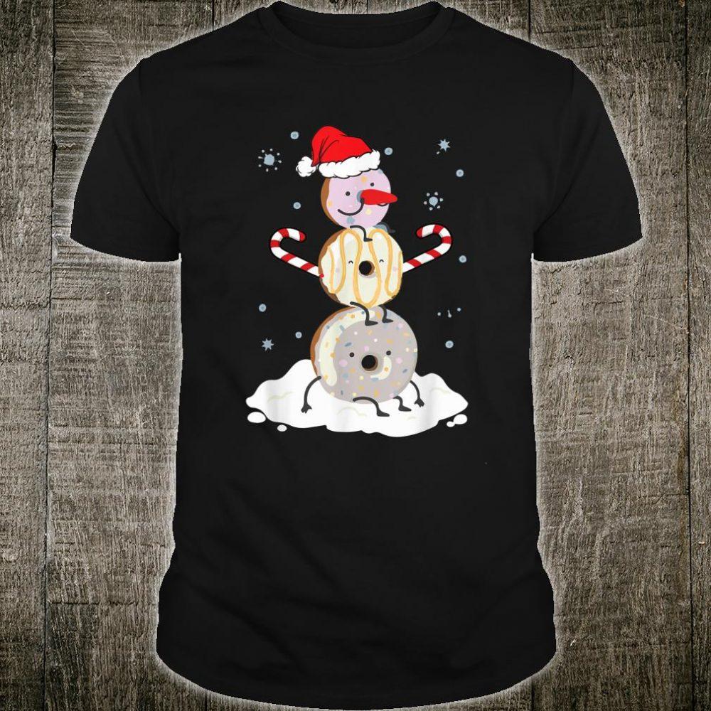 Donuts Doughnut Snowman Christmas Shirt For Donutss Shirt