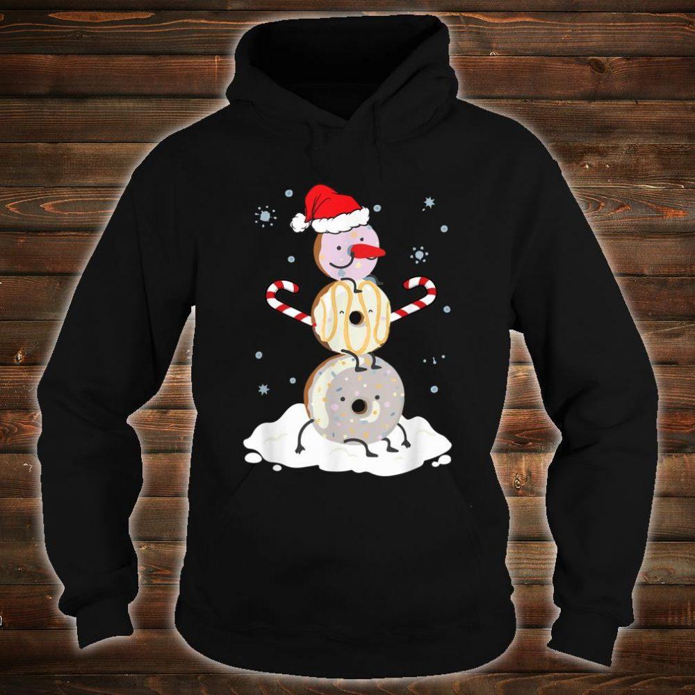 Donuts Doughnut Snowman Christmas Shirt For Donutss Shirt hoodie