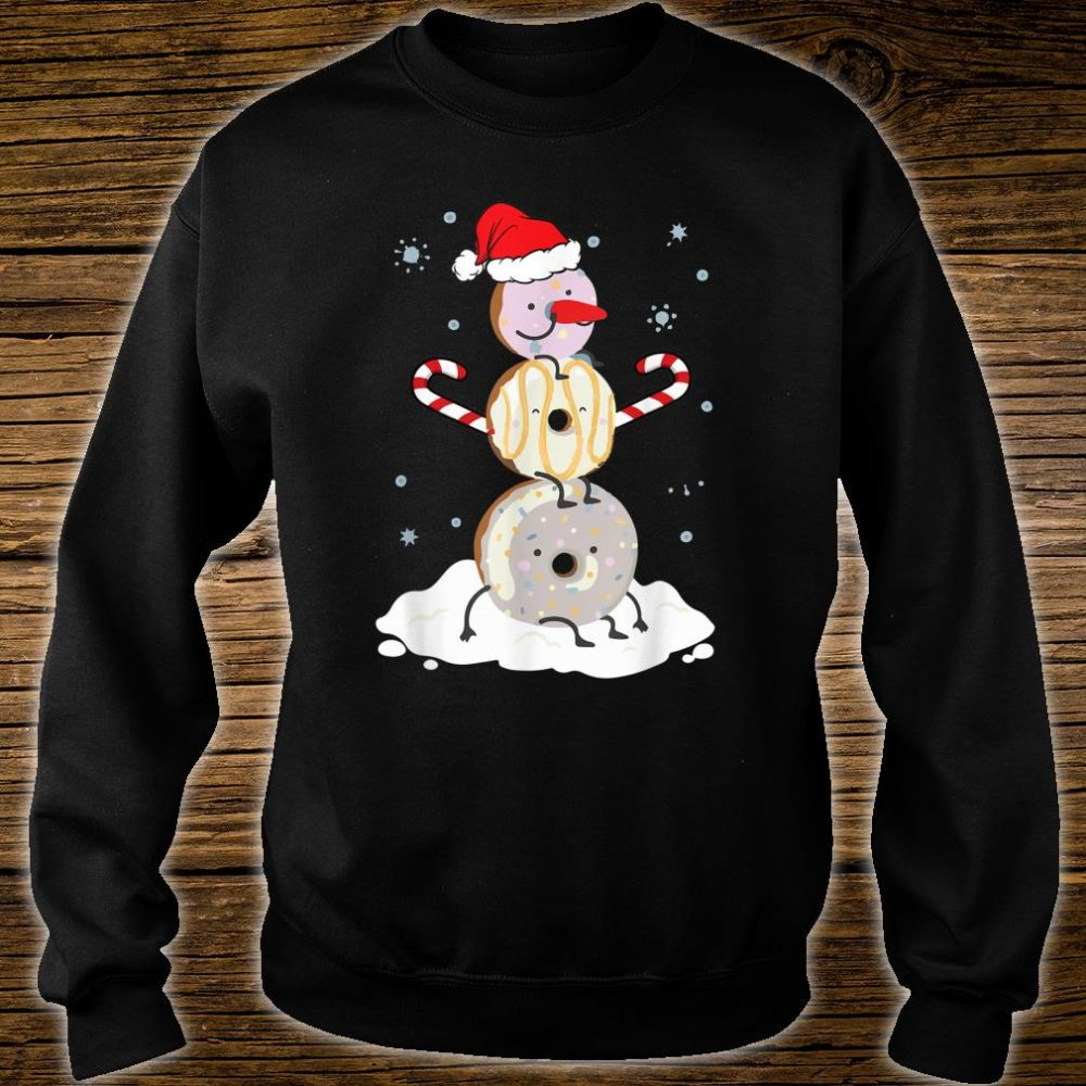 Donuts Doughnut Snowman Christmas Shirt For Donutss Shirt sweater