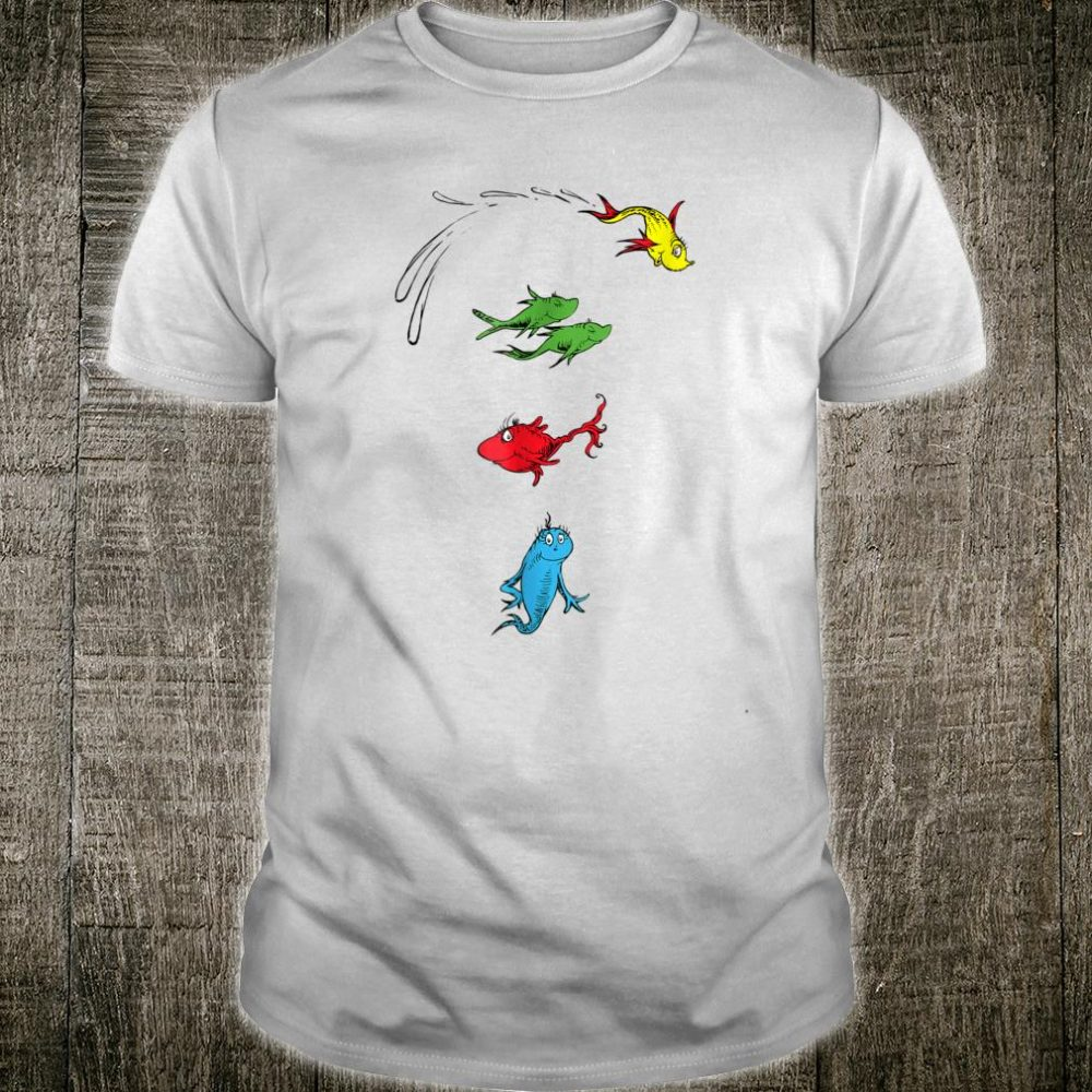 Dr. Seuss One Fish Two Fish Red Fish Blue Fish Shirt
