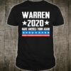 Elizabeth Warren 2020 For President Make America Think Again Shirt