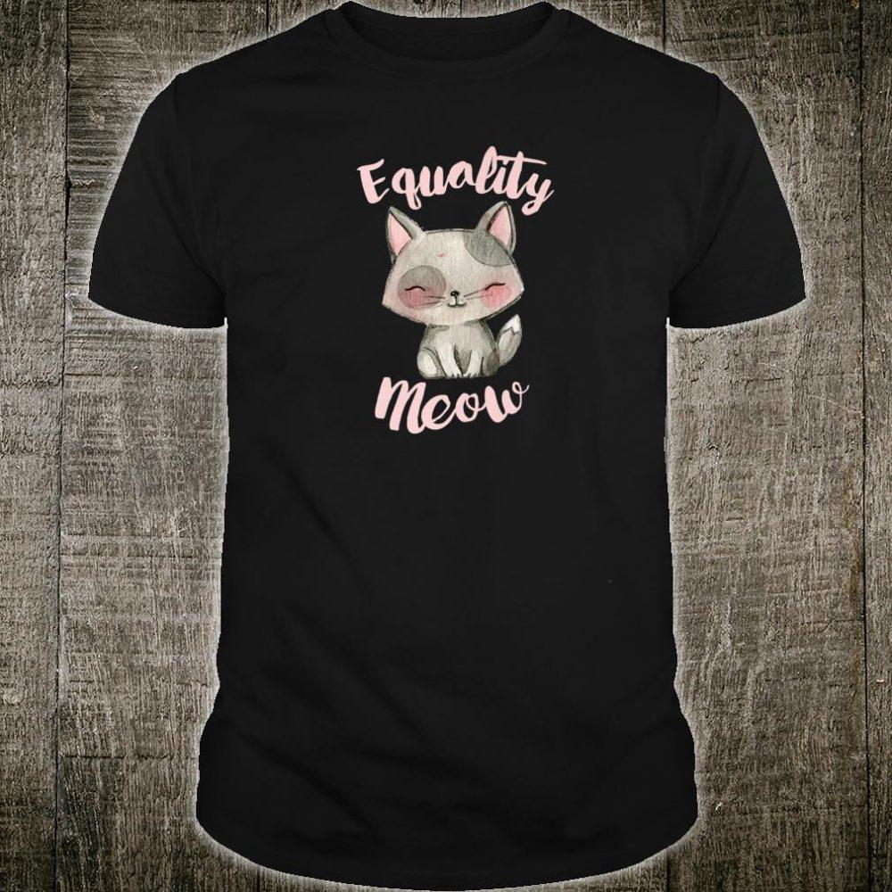 Equality Meow Feminist Christmas Shirt
