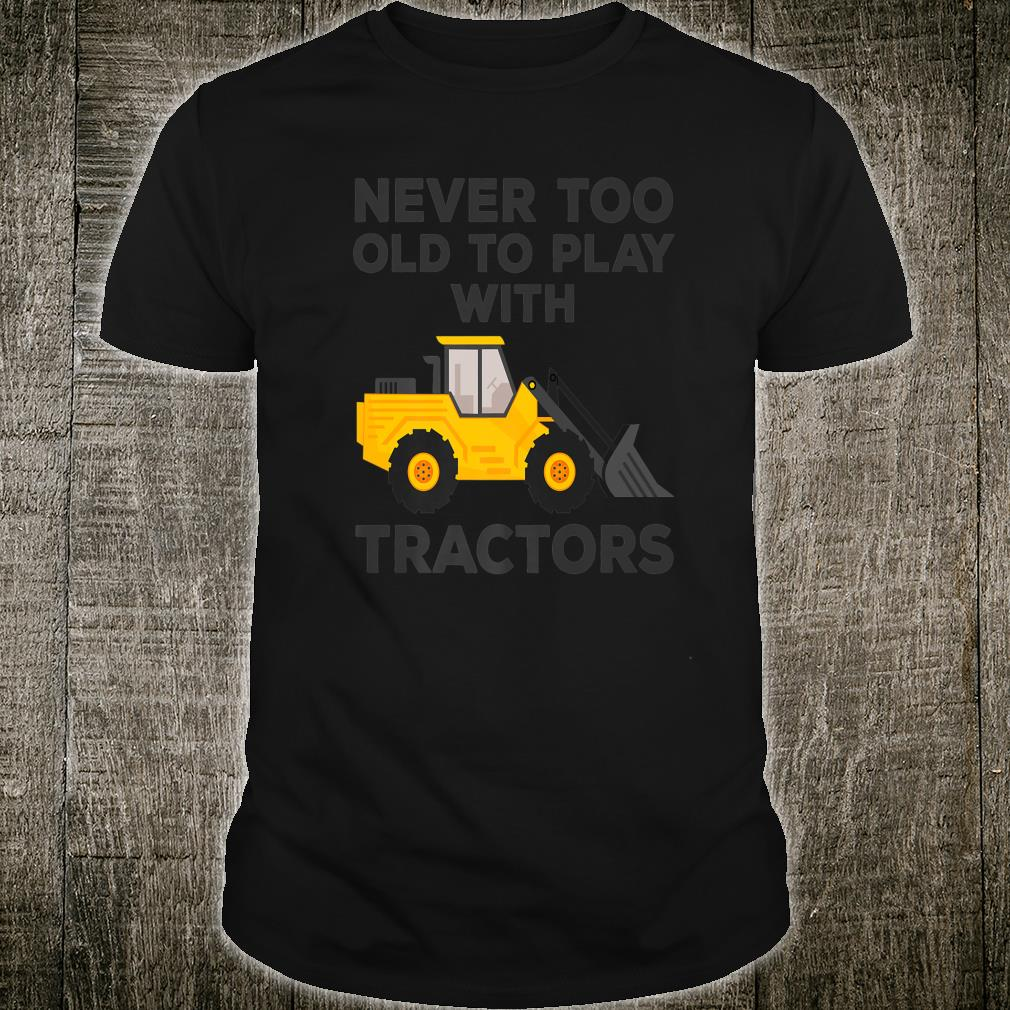 Farmer Tractor Farms Crops Shirt