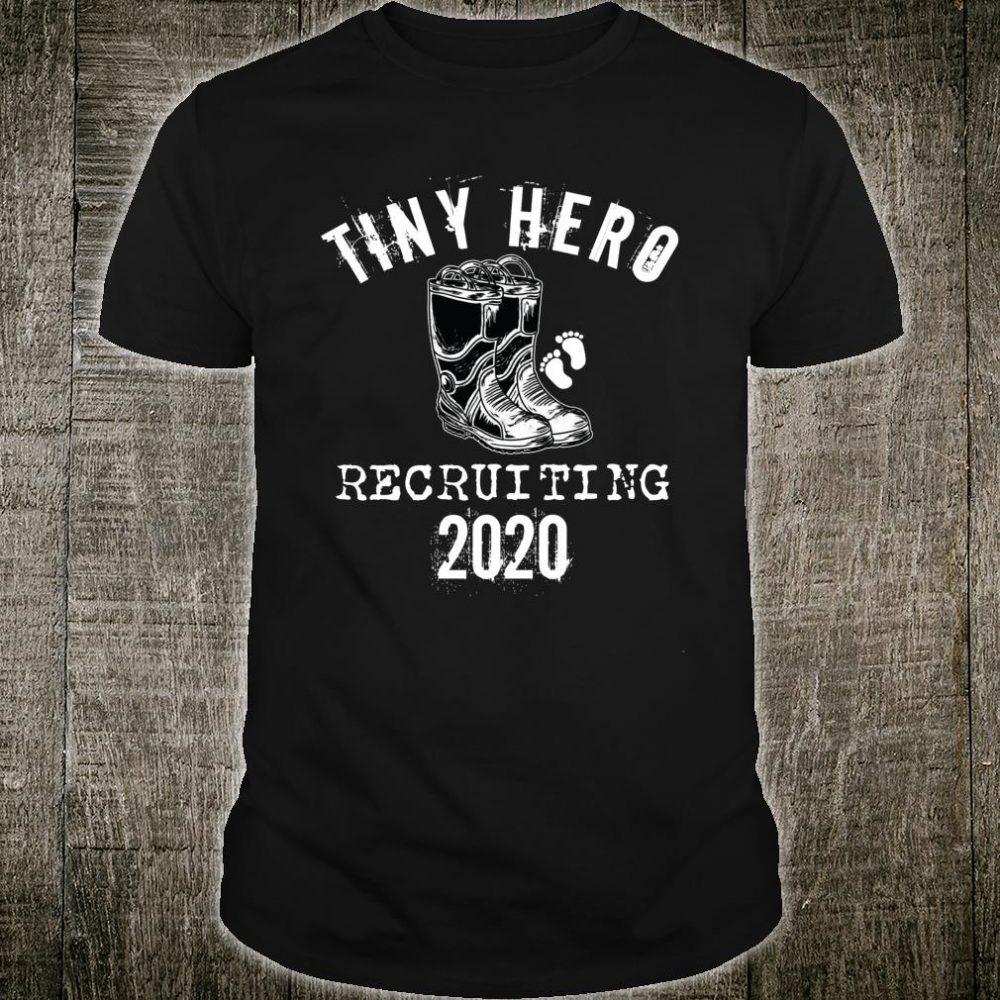 Firefighter Pregnancy Announcement Idea Recruiting 2020 Shirt
