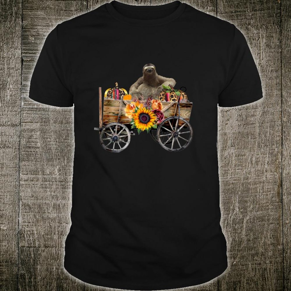 Funny Sloth Clothing Cool Sloth in Country Wagon Shirt