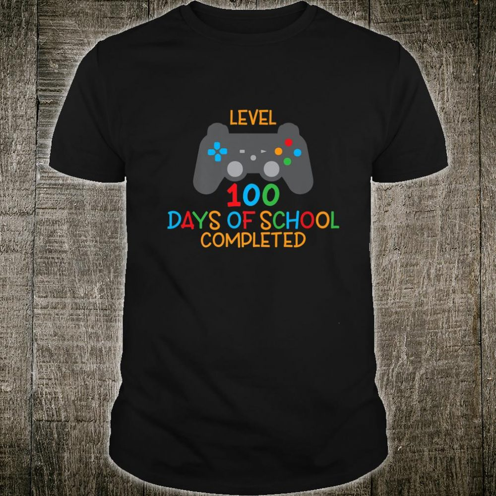 Gamer Level 100 Days Of School Complete Happy Student Shirt