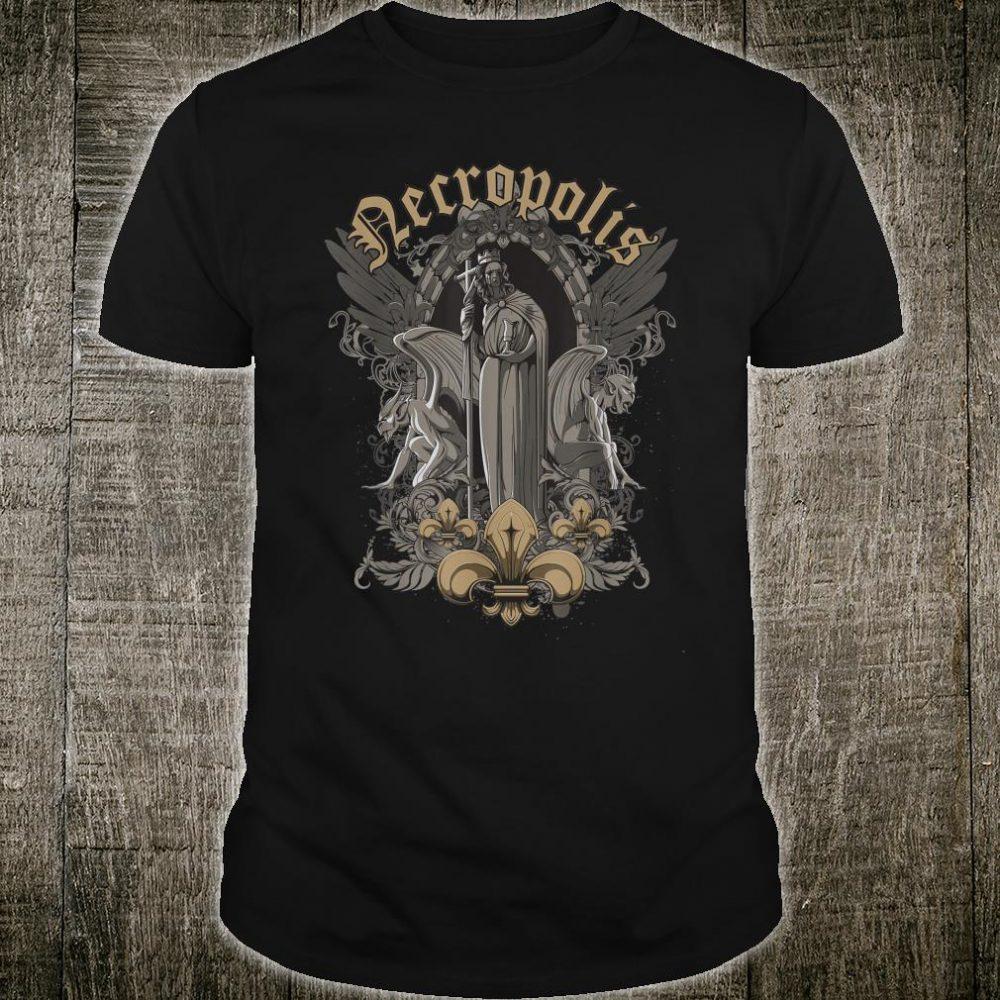 Goth Fallen Priestess and Gargoyles Design Shirt