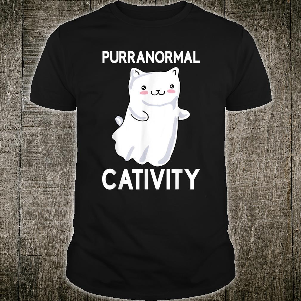 Halloween Purranormal Cativity Ghost Cat Shirt
