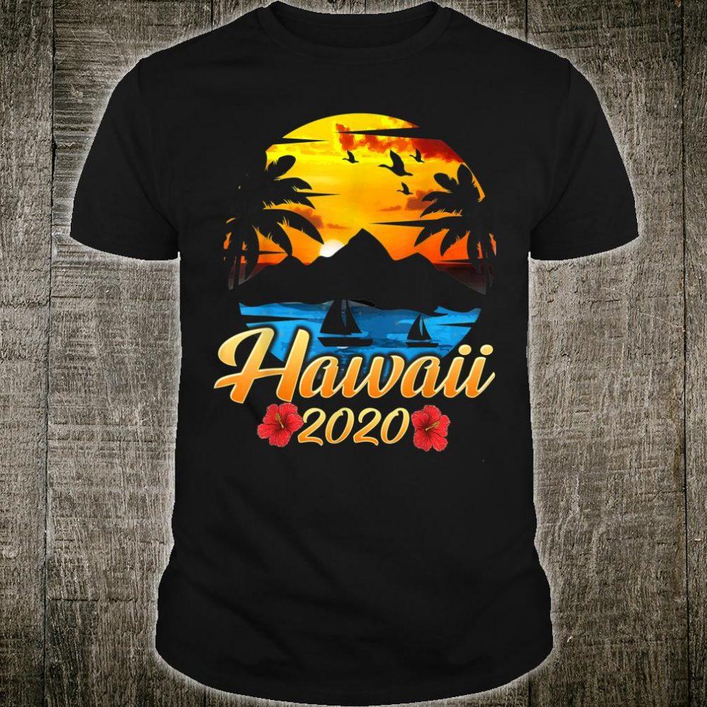 Hawaii Vacation 2020 Hawaiian Beach Family Trip Shirt