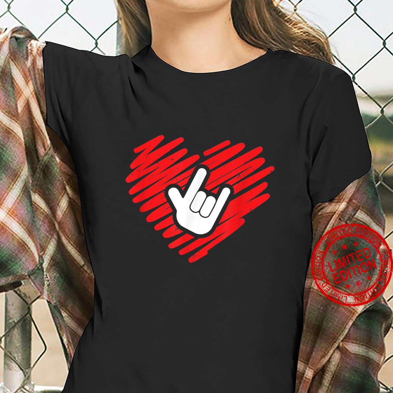 I love you sign language deaf and deafmute Shirt ladies tee