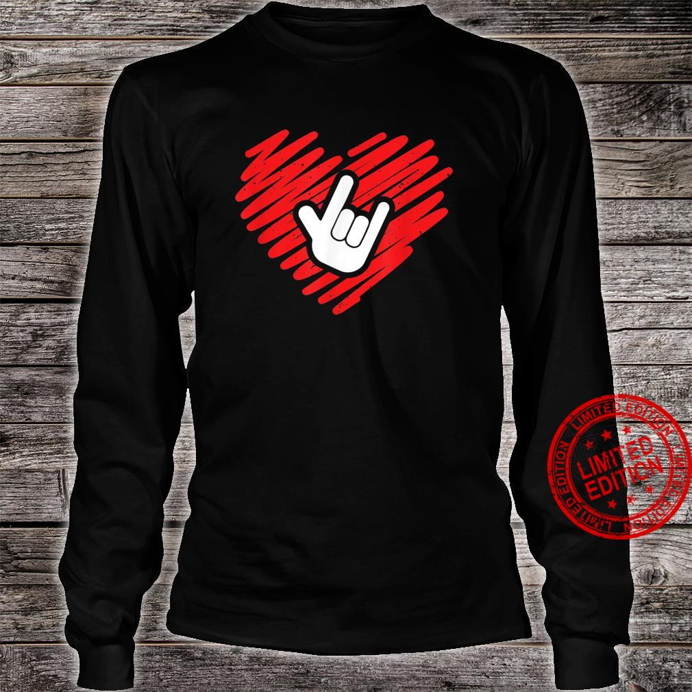 I love you sign language deaf and deafmute Shirt long sleeved