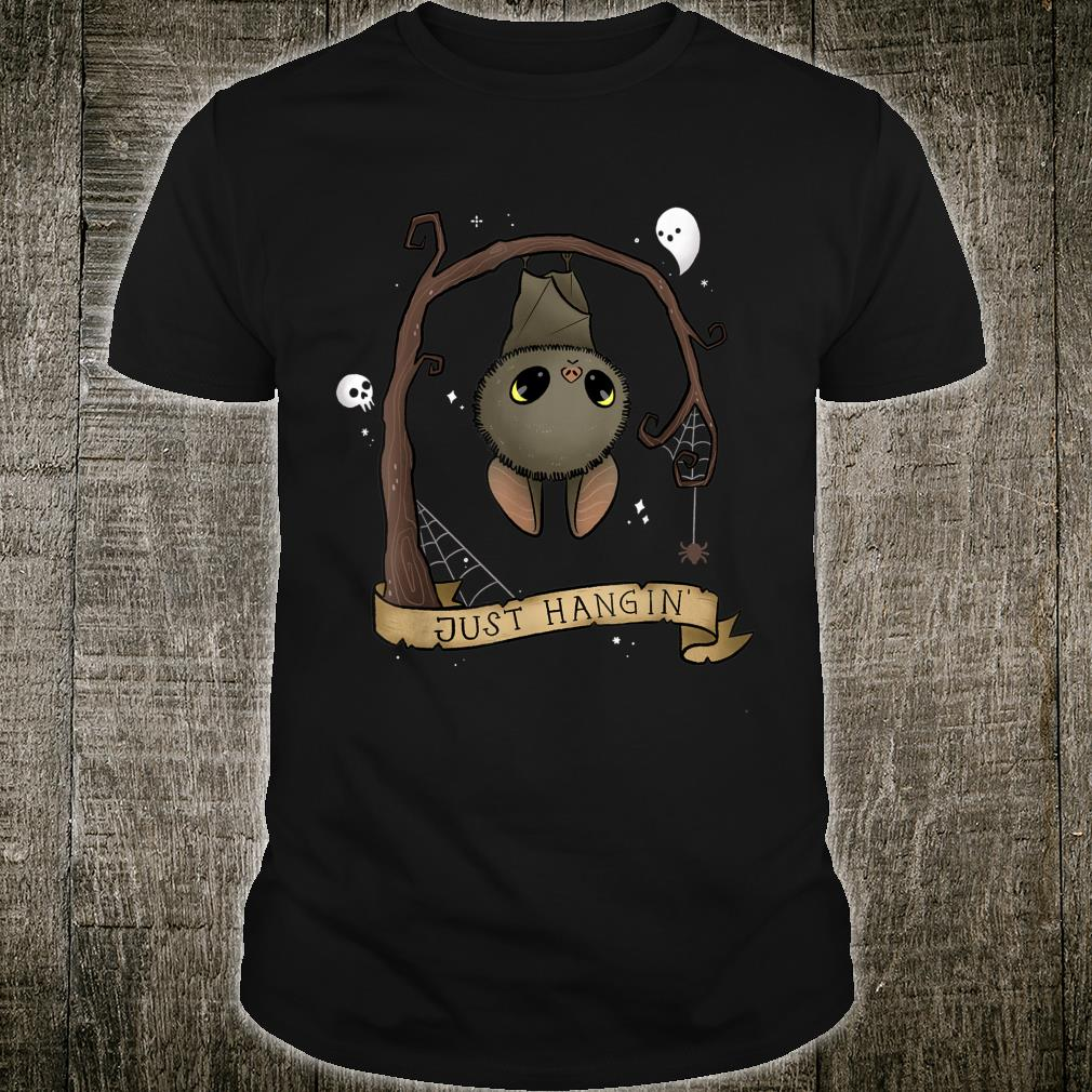 Just Hangin Halloween Cute Hanging Bat Spooky Shirt